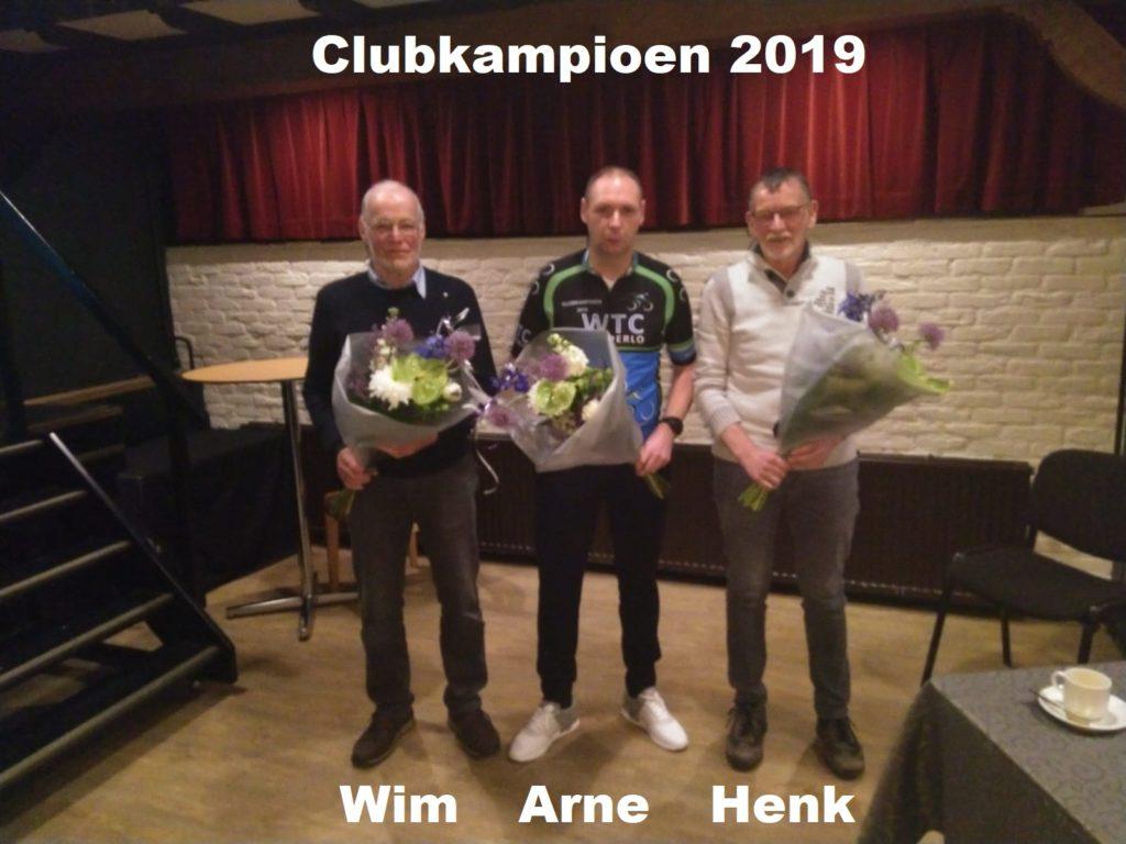 Huldigen clubkampioen op de ALV van 22 februari 2020